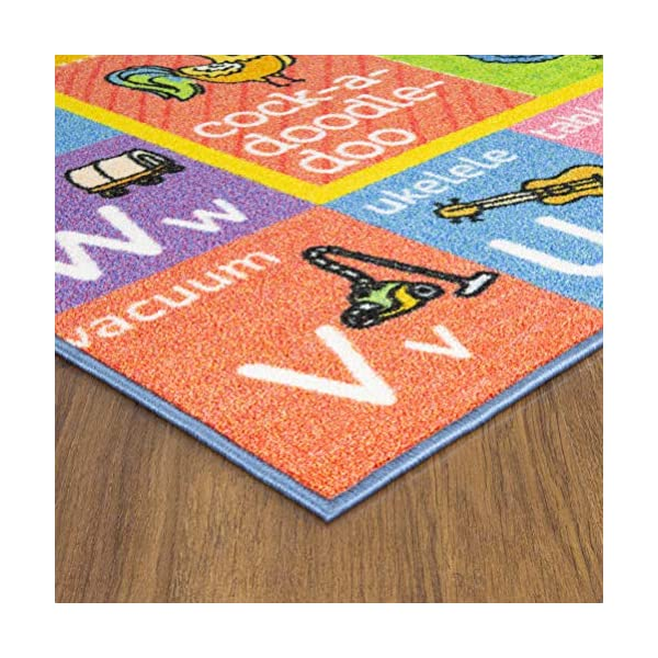 KC CUBS Playtime Collection Old McDonalds Farm Animal Sounds Educational Learning Area Rug Carpet For Kids and Children Bedrooms and Playroom 3 3 x 4 7