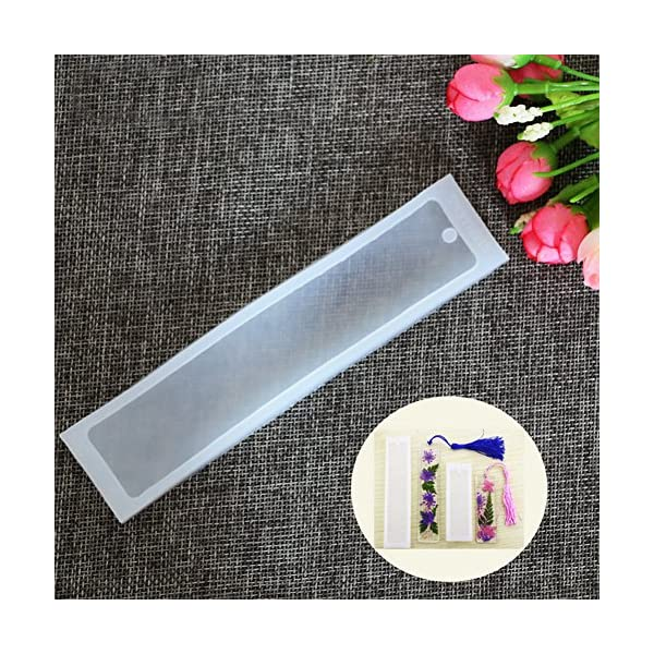 DIY Bookmark Mould Making Epoxy Resin Jewelry DIY Craft Silicone Transparent Mold 5 Pcs//Set Rectangle Silicone Bookmark Mold