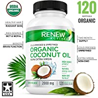 Coconut Oil Capsules for Hair Growth, Radiant Skin & Natural Weight Loss - Unrefined Coconut Oil Rich in MCFA and MCT - 2 Month Supply!