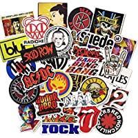 Beyong Cool Music Band Stickers for Water Bottles Skateboard Helmet Guitar Case, Laptop Sticker Packs for Teens & Adults (Band Sticker 50Pcs)