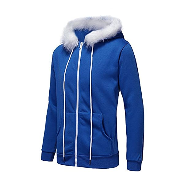 Undertale Sans Cosplay Costume Blue Hoodie Hooded Coat Sweater Jacket Outfit Hot