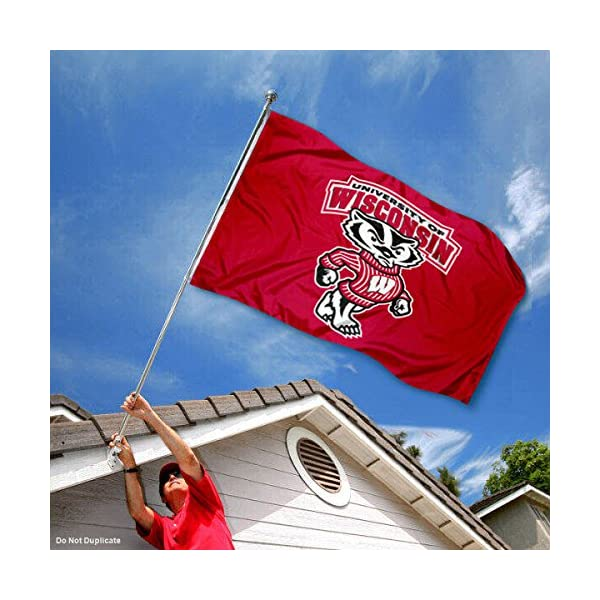 ReddingtonFlags NCAA Wisconsin Badgers Stars and Stripes College Flag