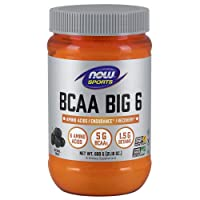 NOW Sports Nutrition, BCAA (Branched Chain Amino Acids) Big 6, Grape Flavor, 600...
