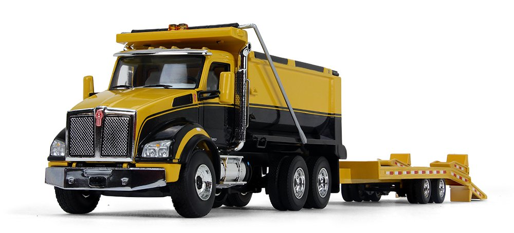 eMart Kids Alloy Die-cast Model Toy Engineering Heavy Crane Truck Vehicle Car Simulation Miniature 1:55 Yellow Gift