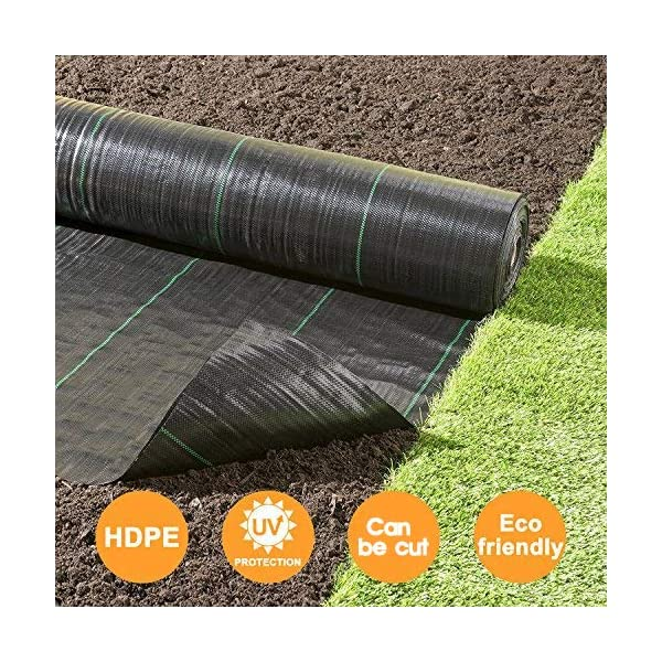 Garden Landscaping Fabric Roll /· Petgrow /· Heavy Duty Weed Barrier Landscape Fabric for Outdoor Gardens Non Woven Weed Blockr Fabric Weed Control Fabric in Rolls(5FTX250FT)