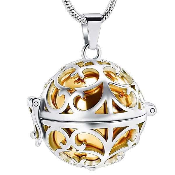ANAZOZ Stainless Steel Pet Loss Memorial Cremation Necklace for Ashes Keepsake Pendant Eternal Symbol