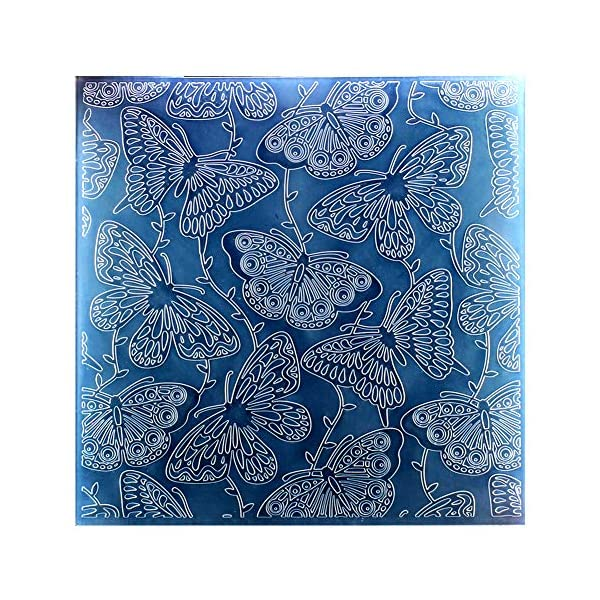 Kwan Crafts Large Size Dahlia Flowers Plastic Embossing Folders for Card Making Scrapbooking and Other Paper Crafts 19.8x19.8cm