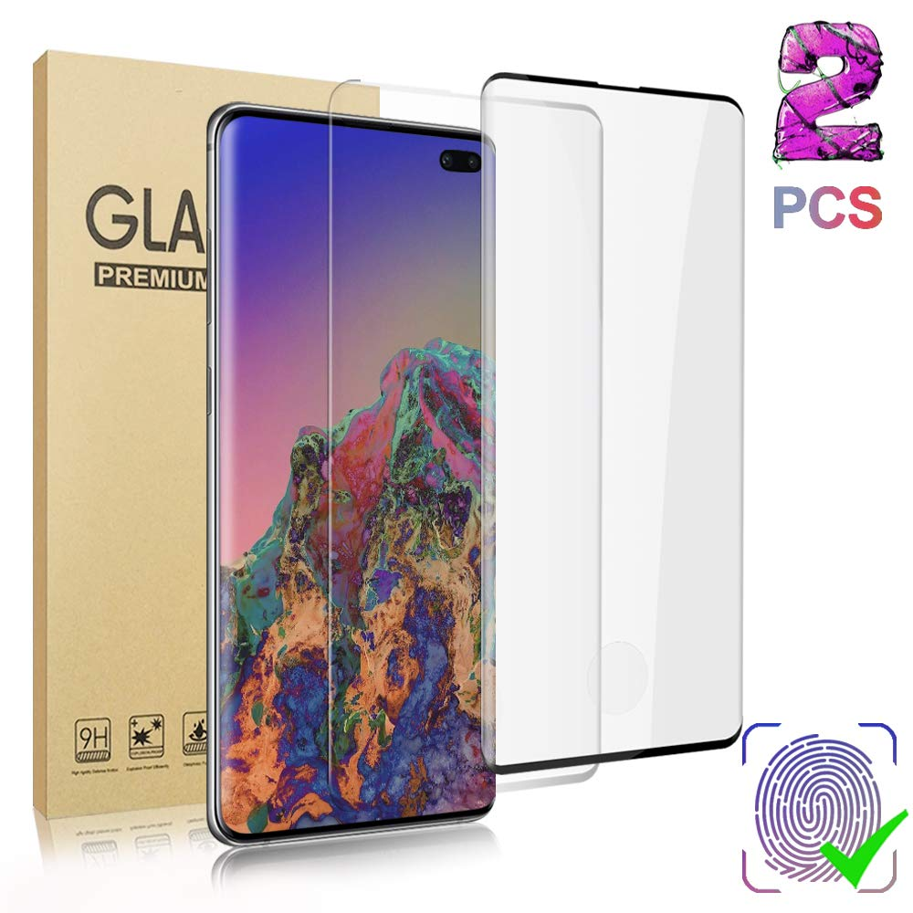 MP-MALL 2 Pack Flexible TPU Film Screen Protector Bubble Free HD-Clear 2 Pack Tempered Glass Camera Lens Protector for Samsung Galaxy S10 6.1-inch