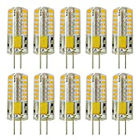 AC 100-120V 180LM Warm White 2W Bi-pin Base T3 Halogen Light Replacement Pack of 5 by Rowrun 2800-3200K G4 LED Bulb Dimmable COB-2508