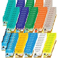 200 pcs Korean Ultra Hydrating Essence Mask, (10 Types x 20) : Aloe, Co-enzyme Collagen, Cucumber, Pearl, Placenta, Royal Jelly, Snail, Stem Cell, Vitamin
