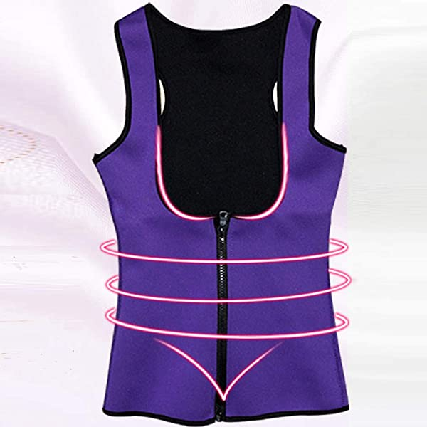 BOLUOYI Womens No Zipper Hot Sweat Slimming Neoprene Shirt Vest Body Shapers for Fat Burner