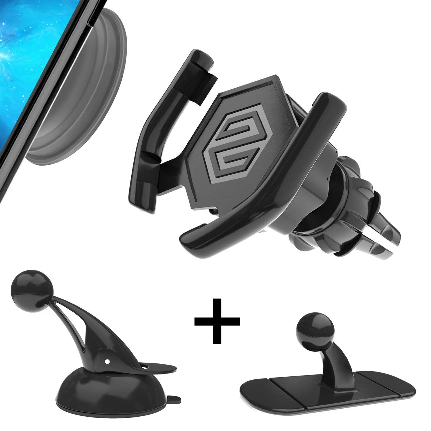 Nay-Nay Phone Stand.Car Mount.Grip All 3 in ONE