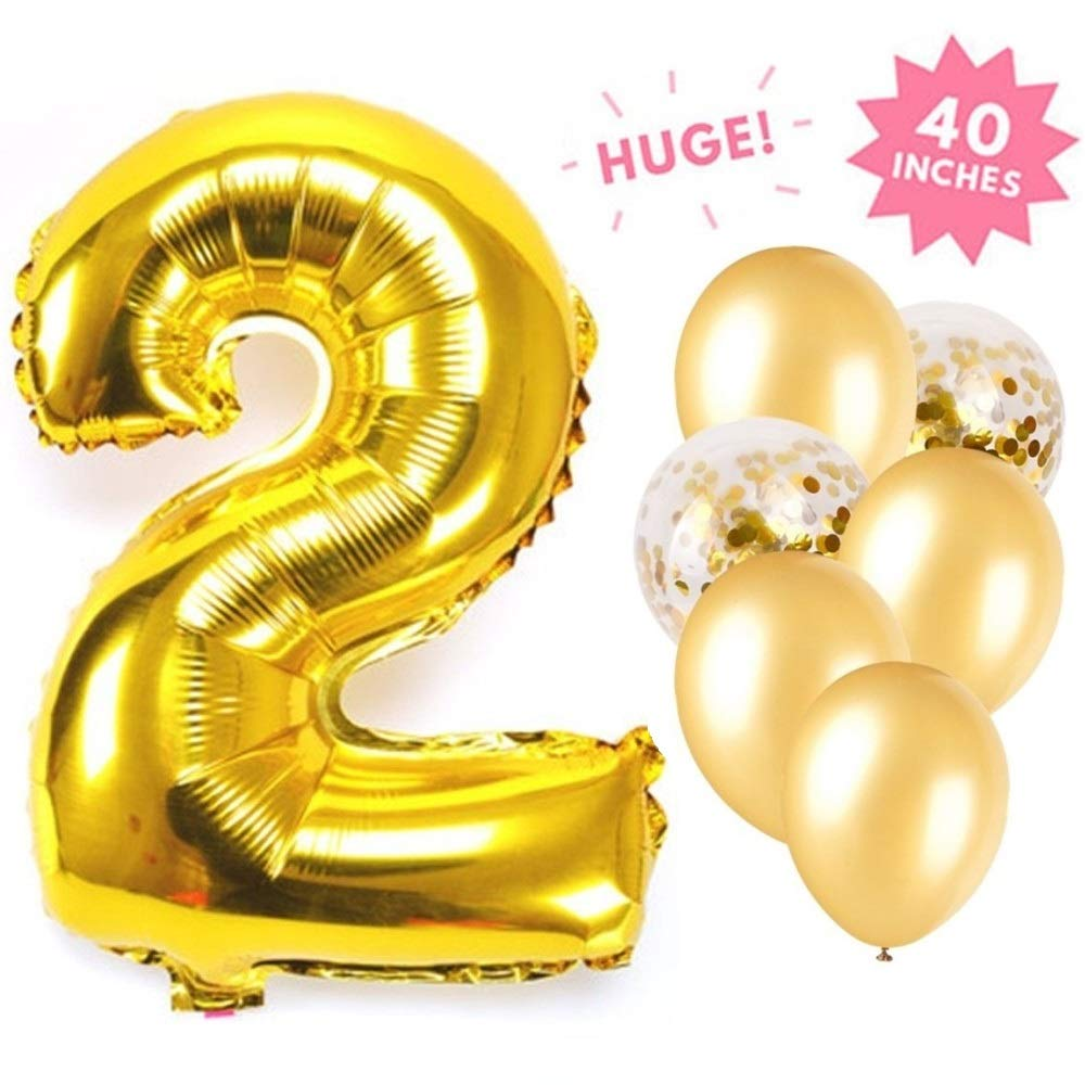 Gold 24 Pieces 16 inch Foil Chain Balloons Jumbo Chain Balloons for 80s 90s Hip Hop Retro Theme Birthdays Weddings Graduations Arch Supplies