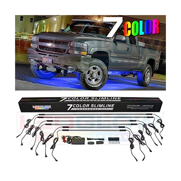 18 Solid Colors LEDGlow 4pc Million Color LED Wheel Well Fender Accent Neon Lighting Kit for Cars /& Trucks 24 Multi-Color Flexible Tubes Water Resistant Includes Control Box /& Wireless Remote