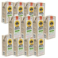 Brutus Bone Broth for Dogs 384 oz | Chicken Broth | 100% Natural | Made in USA | Glucosamine & Chondroitin for Healthy Joints | Human Grade Ingredients | Hydrating Topper for All Dogs & Ages