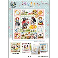 SO-3181 Snow White, SODA Cross Stitch Pattern leaflet, authentic Korean cross stitch design chart color printed on coated paper
