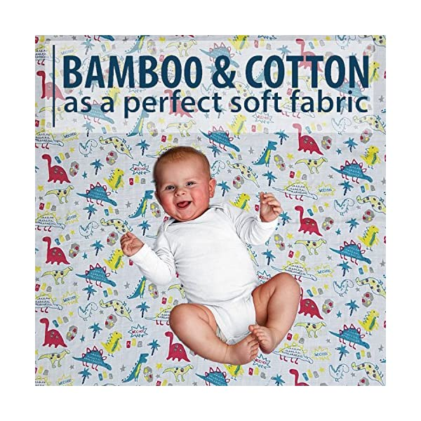 for Newborn Infant Toddler Bamboo Muslin Baby Swaddle Blankets Gentle Soft and Safe for Babys Skin Swaddle Blankets 70/% Bamboo 30/% Cotton Sample 3 47 x 47 inch