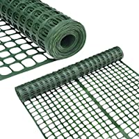 Abba Patio Snow Fence 2' X 50' Feet Plastic Safety Fence Roll Temporary Poultry Fencing Mesh Economy Construction Fencing for Deer, Lawn, Rabbits, Chicken, Poultry, Dogs, Green