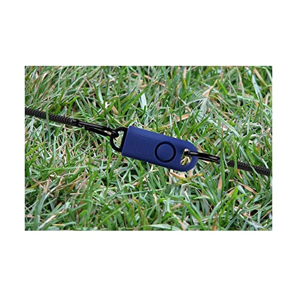 B A S U eAlarm+ with Tripwire Hook Navy Blue Carabiner Included Battery Included Emergency Personal Alarm