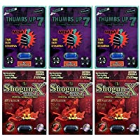 Thumbs Up 7 69K Blue 3 Pill Shogun X 1500mg 3 Pill Male Enhancing Natural Performance Pill The New Most Effective Natural Amplifier for Performance, Energy, and Endurance