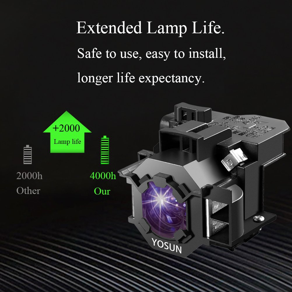 Replacement for Epson Home Cinema 5040ub Bare Lamp Only Projector Tv Lamp Bulb by Technical Precision