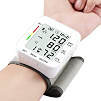 Blood Pressure Monitor Large LCD Display & Adjustable Wrist Cuff (5.31