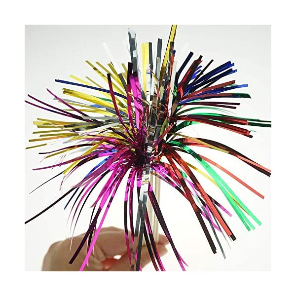 4.7 Inch Fancy Appetizer Toothpicks Decorative Cocktail of Wedding and Baby Shower for Appetizer Drink and Cupcake Qincling Bamboo Cocktail Toothpicks Multicolor Handmade Fruit Skewers 200 Counts Sandwich