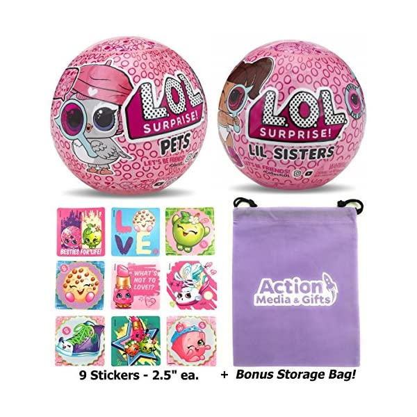 Eye Spy Lil Sister 1 Innovation Series 4 Under Wraps + LOL Surprise Dolls Wave 2 Bundle Includes LOL Sticker Sheet with Compatible Toy Storage Bag 1 MGA Entertainment