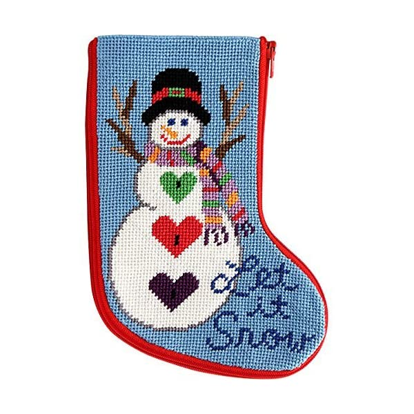 Stitch /& Zip Cardinals Mini Stocking Needlepoint Kit