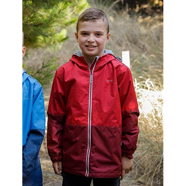 Fleece Lined Toddler Kids Youth Eco Friendly Fabric Therm Boys Rain Jacket Lightweight Raincoat