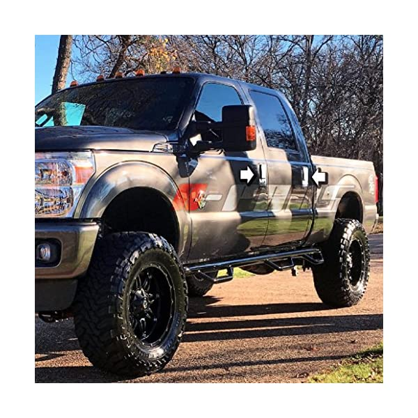 Chromed Tank Fuel Door Cover A-PADS Chrome Gas Door Cover for Ford F-150 F250+F350+Super Duty 1999-2010 F-250 Light Duty 1997-2003