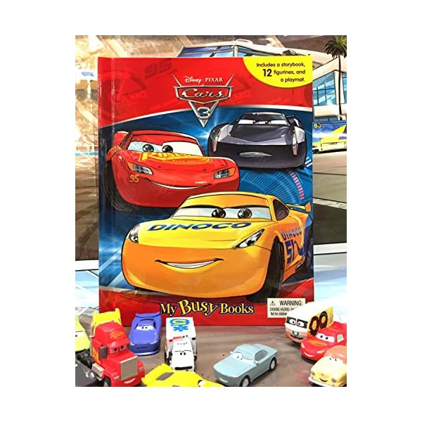 NEW Disney Pixar Cars 3 My Busy Book 10 Character Figurines /& Playmat
