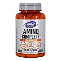 NOW Sports Nutrition, Amino Complete, Protein Blend With 21 Aminos and B-6, 120-...