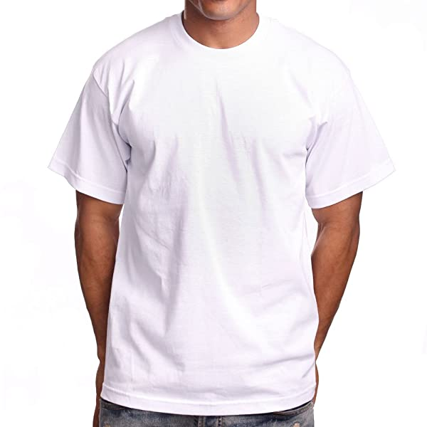 Shaka Mens Pack of 6 Super Max Heavy Cotton T-Shirt Large Tall