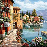 YXQSED Paint by Numbers Kit for Adults Kids Beginner DIY Oil Painting Paintworks on Canvas with Wooden Framed The Sunset Under The Tree 16x20 Inch