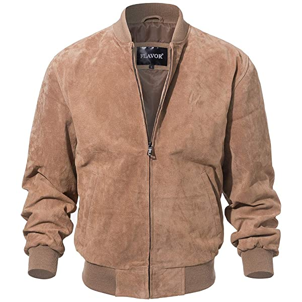 coolhides Mens Joe Smooth Suede Leather Jacket