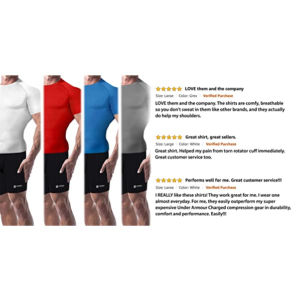 Highest Copper Content Guaranteed Joints Stiff Muscles Basketball Best Compression Fit T-Shirt for Running Copper Compression Short Sleeve Mens Recovery T Shirt Support Sore Sports Wear