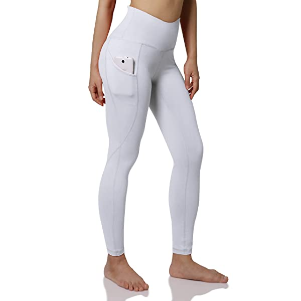Dream Room Women Solid Yoga Workout Running Leggings Pockets Tummy Control Christmas Stretchy Pants