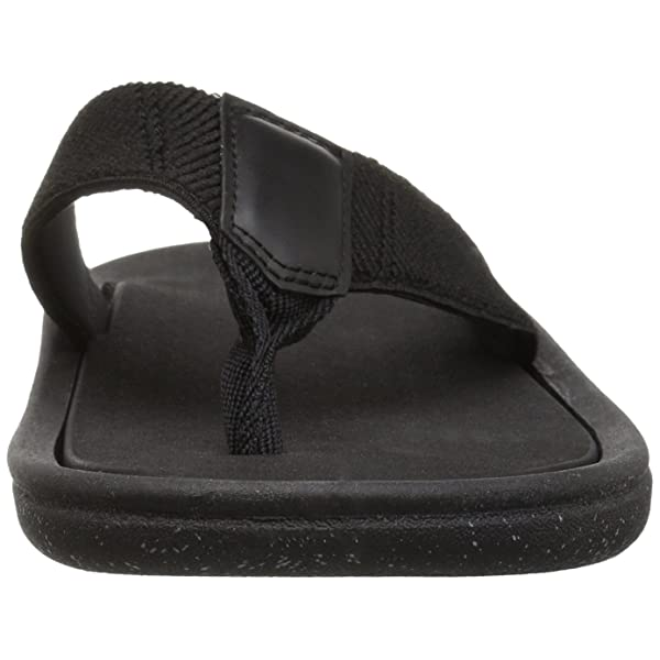 12 D US ALDO Mens CEASTUN Flip-Flop Black Leather