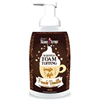 Jordan's Skinny Syrups   Sugar Free French Vanilla Whipped Foam Coffee Topping  ...