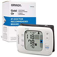 Omron Gold Blood Pressure Monitor, Portable Wireless Wrist Monitor, Digital Bluetooth...