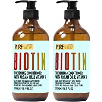 Biotin Shampoo and Conditioner Set - Sulfate Free Deep Treatment with Morrocan...