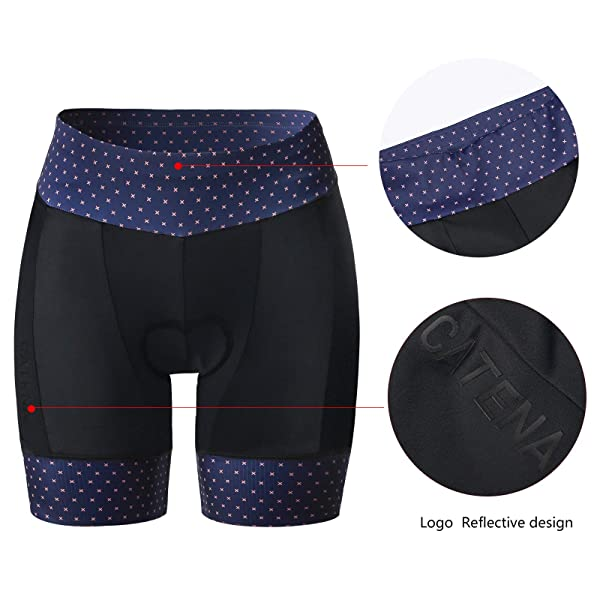 CATENA Womens Bike Shorts 3D Padded Cycling Short Pants for MTB Road Bicycle