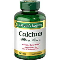 Calcium & Vitamin D3 by Nature's Bounty, Immnue Support & Bone Health, 500mg Calcium...