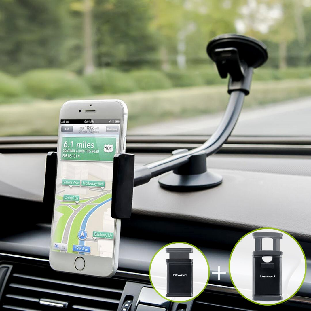 LG and More Cell Phones Windshield Phone Holder with Shock Absorption Design for iPhone 11//Xs//Xr//X//8 Plus//8//7//6 HTC Samsung Note 10+//10//9//8//7 Kolasels Long Arm Cell Phone Holder for Car