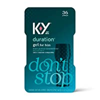 Duration Gel for Men, K-Y Male Genital Desensitizer Numbing Gel to Last Longer,...