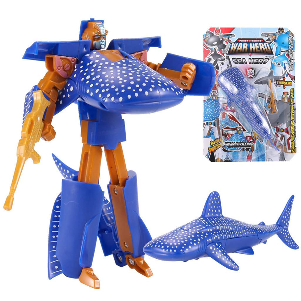 Transforming Action Figure Changes from a Detailed Animal Toy to a Unique Robot Toy in Seconds Snow Leopard Forest /& Twelfth Snow Leopard 5 Animal Toys Great Gift for Both Girls and Boys