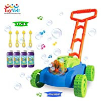 ToyVelt Bubble Lawn Mower for Kids - Automatic Bubble Machine with Music Sounds...