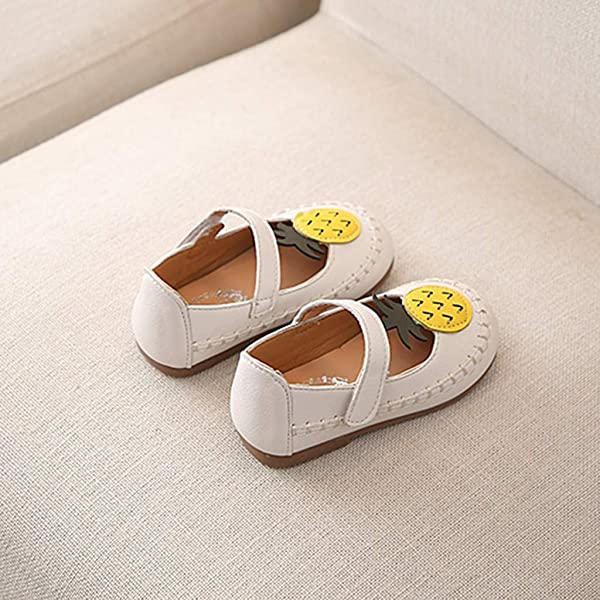 ❤️Rolayllove❤️ Children Baby Girls Sandals Cute Pineapple Fruit Leather Sport Single Casual Shoes Mary Jane