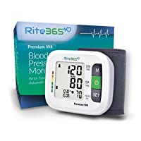 Wrist Blood Pressure Monitor by Rite365 - Automatic - for Home and Travel - Deluxe...